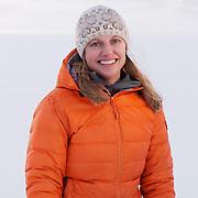 Krista Wright in Svalbard, Norway. Krista Wright, Portrait. Svalbard, Norway
