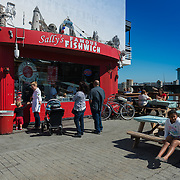 San Francisco Sally's Famous Fishwich cafe in the Wharf