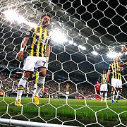 Arsenal's  Kieran Gibbs (R) scores during the UEFA Champions League Play-Offs First leg soccer match Fenerbahce between Arsenal at Sukru Saracaoglu stadium in Istanbul Turkey on Wednesday 21 August 2013. Photo by Aykut AKICI/TURKPIX
