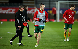 LEUVEN, BELGIUM - Wednesday, March 24, 2021: Wales' captain Gareth Bale during the pre-match warm-up before the FIFA World Cup Qatar 2022 European Qualifying Group E game between Belgium and Wales at the King Power Den dreef Stadium. Belgium won 3-1. (Pic by Vincent Van Doornick/Isosport/Propaganda)