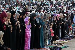 AMMAN, Sept. 12, 2016 (Xinhua) -- Muslims pray during the Eid al-Adha festival in Amman, Jordan, Sept. 12, 2016. Muslims across the world celebrate the Eid al-Adha festival, or the Festival of Sacrifice. (Xinhua/Mohammad Abu Ghosh) (wtc) (Credit Image: © Mohammad Abu Ghosh/Xinhua via ZUMA Wire)