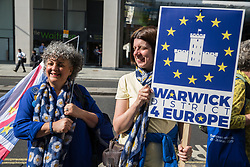 London, UK. 30th April 2019. Anti-Brexit activists protest outside the Labour Party HQ where an NEC meeting was taking place to confirm plans for Labour's EU election manifesto, including its stance with regard to a second referendum.