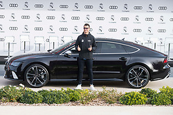Cristiano Ronaldo of Real Madrid CF poses for a photograph after being presented with a new Audi car as part of an ongoing sponsorship deal with Real Madrid at their Ciudad Deportivo training grounds in Madrid, Spain, November 23, 2017. Photo by Borja B.Hojas/AlterPhotos/ABACAPRESS.COM