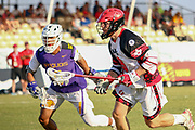 The World Lacrosse Championship in 2018 was held on July 12-21 2018 at the Orde Wingate Institute for Physical Education and Sports in Netanya, Israel. The watch between Iroquois (Purple) and Canada (white and black) on July 19