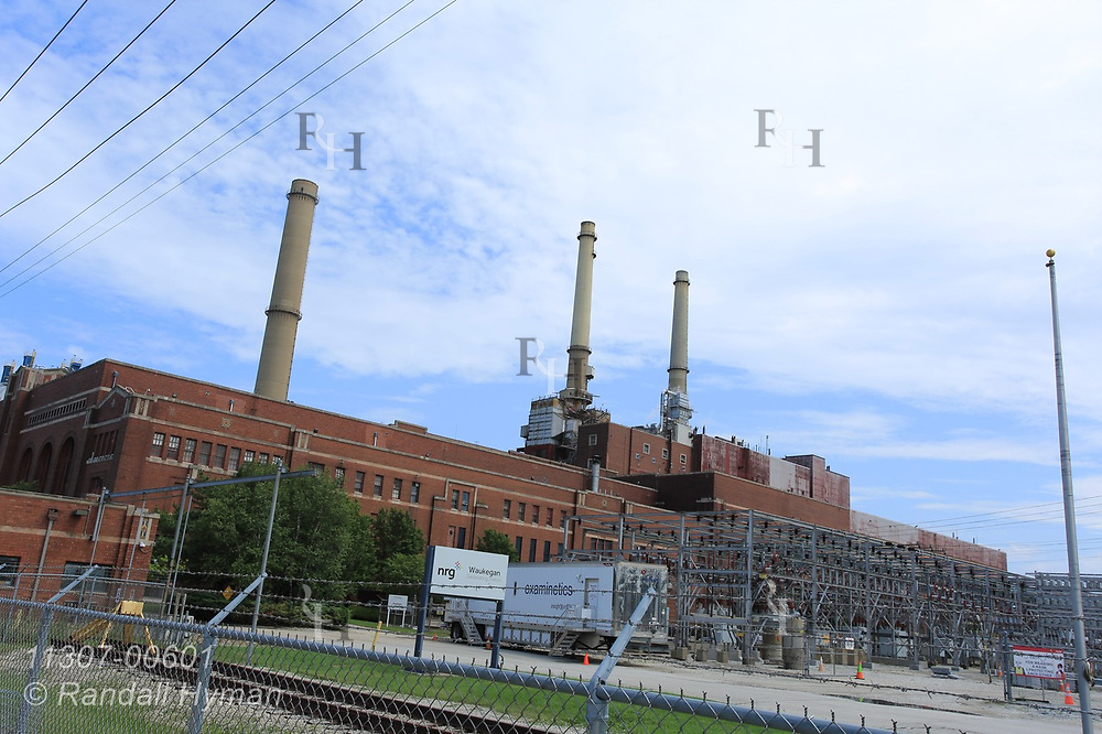 Coal-fired NRG Waukegan Generating Station, due to be closed in June 2022, is one of the more historic power stations in the Great Lakes basin; Waukegan, Illinois.