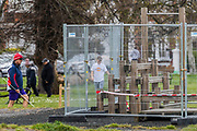 Outdoor gym equipment is now fenced off to stop usage -  The 'lockdown' continues for the Coronavirus (Covid 19) outbreak in London.