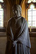 Statue sculpture of Theodosia, Lady Waveney died 1871, Flixton church, Suffolk, England, UK by John Bell