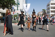 Israel, Tel Aviv, Purim celebration March 2008 the participants at the street party