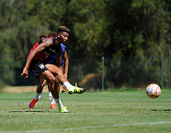 Lloyd Kelly of Bristol City Shoots  - Photo mandatory by-line: Joe Meredith/JMP - Mobile: 07966 386802 - 17/07/2015 - SPORT - Football - Albufeira -  - Pre-Season Training