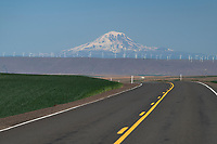 Mount Adams seen from Oregon Highway 206 near Wasco Oregon