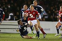 Rugby Union - 2012 Rugby Legends Match - British & Irish Legends vs. French Legends.Jamie Noon makes a break to score at Twickenham Stoop, London