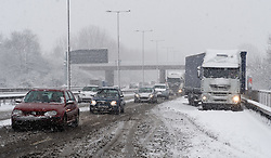 © under license to London News Pictures.  18/12/2010. A broken down lorry in heavy snow along the M4 near junction 8 for Maidenhead, Berkshire today (18/12/2010).  Severe weather is expected to hit the whole of the UK this weekend. Photo credit should read Sam Long/ London News Pictures