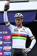 Peter Sagan (Slovakia) at the presentation during the Road Cycling European Championships Glasgow 2018, in Glasgow City Centre and metropolitan areas Great Britain, Day 11, on August 12, 2018 - Photo Laurent Lairys / ProSportsImages / DPPI