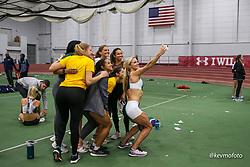 Bruce LeHane Scarlet and White<br /> Indoor Track & Field<br /> Emma Coburn selfie