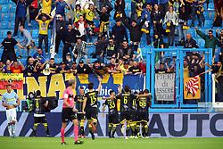 """Foto Filippo Rubin<br /> 28/10/2018 Ferrara (Italia)<br /> Sport Calcio<br /> Spal - Frosinone - Campionato di calcio Serie A 2018/2019 - Stadio """"Paolo Mazza""""<br /> Nella foto: GOAL FROSINONE CAMILLO CIANO (FROSINONE)<br /> <br /> Photo Filippo Rubin<br /> October 28, 2018 Ferrara (Italy)<br /> Sport Soccer<br /> Spal vs Frosinone - Italian Football Championship League A 2018/2019 - """"Paolo Mazza"""" Stadium <br /> In the pic: GOAL FROSINONE CAMILLO CIANO (FROSINONE)"""
