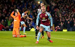 Jeff Hendrick of Burnley celebrates scoring a goal to make it 1-0 while Robert Elliot of Newcastle United cuts a dejected figure - Mandatory by-line: Robbie Stephenson/JMP - 30/10/2017 - FOOTBALL - Turf Moor - Burnley, England - Burnley v Newcastle United - Premier League