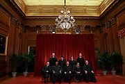 U.S. Supreme Court Justices during their new group photo at the Supreme Court building in Washington.   REUTERS/Jim Young