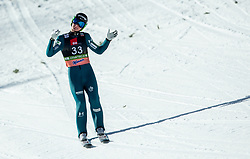 Domen Prevc (SLO) reacts during the 1st Round of the Ski Flying Hill Individual Competition at Day 2 of FIS Ski Jumping World Cup Final 2019, on March 22, 2019 in Planica, Slovenia. Photo by Vid Ponikvar / Sportida