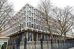 © Licensed to London News Pictures. 12/01/2018. London, UK. The old US Embassy in Grosvenor Square, London. President of the United States Donald Trump has tweeted that he will no longer be visiting the UK to open the new embassy in Nine Elms, South London. Photo credit: Rob Pinney/LNP