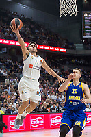 Real Madrid Facundo Campazzo and Khimki Moscow Andrey Zubkov during Turkish Airlines Euroleague match between Real Madrid and Khimki Moscow at Wizink Center in Madrid, Spain. November 02, 2017. (ALTERPHOTOS/Borja B.Hojas)