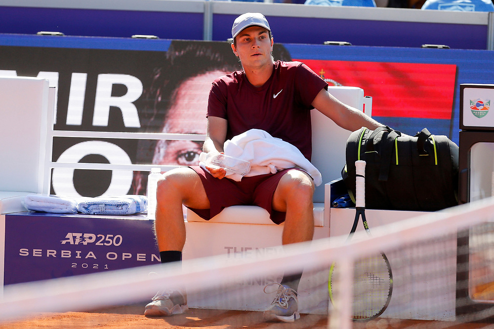 Tennis-ATP Serbia Open Belgrade 2021-<br /> Novak Djokovic (SRB) v Miomir Kecmanovic (SRB)<br /> Beograd, 23.04.2021.foto: Marko Djokovic/Starsportphoto ©