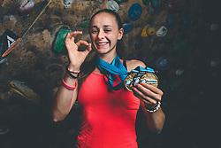 Sara Čopar, youth multiple world champion in climbing, 13 of September 2021, Celje and Laško, Slovenia. Photo by Grega Valancic