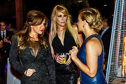 LOS ANGELES, CA - JUN 3: Adriana Gallardo (L), Estela Mora (c) and Rosie Rivera attend Despegando Show VIP Launch party at Don Chente's Restaurant in downtown Los Angeles. The reality show is presented by Adriana Gallardo, founder and CEO of Adriana's Insurance. The show will coach chosen participants how to be successful entrepreneurs. 2015, June 3. Byline, credit, TV usage, web usage or linkback must read SILVEXPHOTO.COM. Failure to byline correctly will incur double the agreed fee. Tel: +1 714 504 6870.