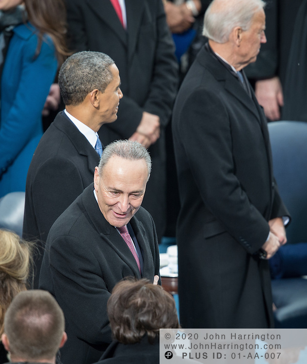 President Obama and Sen. Charles Schummer at the 57th Presidential Inauguration of President Barack Obama at the U.S. Capitol Building in Washington, DC January 21, 2013.