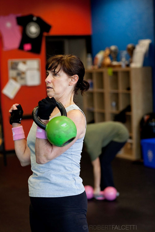 NORWALK, CT- 11 November  2010:  Punch Kettlebell Gym Norwalk photographed for HealthyLifeCT magazine. (Photo by Robert Falcetti). .