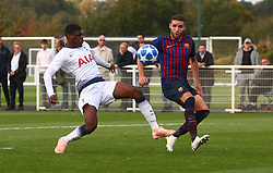 October 3, 2018 - London, England, United Kingdom - Enfield, UK. 03 October, 2018.Brooklyn Lyons-Foster of Tottenham Hotspur.during UEFA Youth League match between Tottenham Hotspur and FC Barcelona at Hotspur Way, Enfield. (Credit Image: © Action Foto Sport/NurPhoto/ZUMA Press)