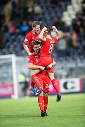Rangers Black celebrates after scoring their third goal.<br /> Falkirk 1 v 3 Rangers.