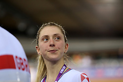 Laura Kenny of Great Britain during day three of the Tissot UCI Track Cycling World Cup at Lee Valley VeloPark, London.
