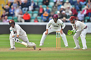 Rory Burns of Surrey plays a sweep shot during the opening day of the Specsavers County Champ Div 1 match between Somerset County Cricket Club and Surrey County Cricket Club at the Cooper Associates County Ground, Taunton, United Kingdom on 18 September 2018.