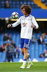 May 8, 2017 - London, England, United Kingdom - Chelsea's David Luiz during the pre-match warm-up during Premier League match between Chelsea and Middlesbrough at Stamford Bridge, London, England on 08 May 2017. (Credit Image: © Kieran Galvin/NurPhoto via ZUMA Press)