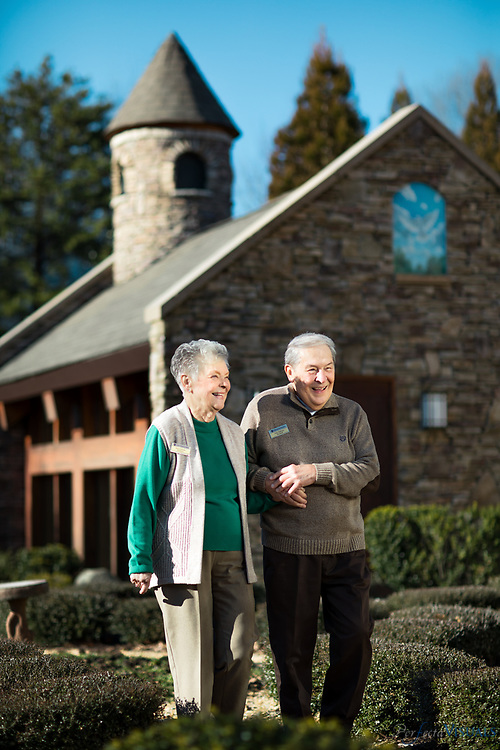 Residents of Pennybyrn At Maryfield, enjoy the amenities of the retirement community located in High Point, N.C. on Thursday January 25, 2018.<br /> <br /> Beth Hoffman and her husband Dick Hoffman enjoy a walk.<br /> <br /> Photographed, Thursday, January 25, 2018, in High Point, N.C. JERRY WOLFORD and SCOTT MUTHERSBAUGH / Perfecta Visuals