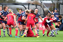 Macenzie Carson of Bristol Bears Women battles against Harlequins Ladies - Mandatory by-line: Paul Knight/JMP - 01/12/2018 - RUGBY - Shaftesbury Park - Bristol, England - Bristol Bears Women v Harlequins Ladies - Tyrrells Premier 15s