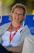 Seville. Andalusia. SPAIN. British Rowing's Chairman, Annamarie PHELPS  at the  2013 FISA European Rowing Championship.  Guadalquivir River.  Sunday   02/06/2013  [Mandatory Credit. Peter Spurrier/Intersport]