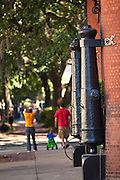 Historic canons mounted at the entry to SCAD in Savannah, Georgia, USA.