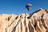 Hot Air Baloons over Goreme, Cappadocia Turkey .<br /> <br /> If you prefer to buy from our ALAMY PHOTO LIBRARY  Collection visit : https://www.alamy.com/portfolio/paul-williams-funkystock/cappadocia-balloons.html<br /> <br /> Visit our TURKEY PHOTO COLLECTIONS for more photos to download or buy as wall art prints https://funkystock.photoshelter.com/gallery-collection/3f-Pictures-of-Turkey-Turkey-Photos-Images-Fotos/C0000U.hJWkZxAbg