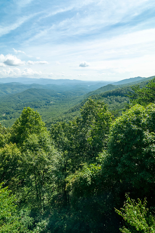 View from the Look Rock Overlook at Look Rock on the Foothills Parkway in Great Smoky Mountains National Park in Walland, Tennessee on Wednesday, August 12, 2020. Copyright 2020 Jason Barnette