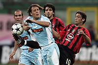 Milano 21/8/2004 Supercoppa Italiana - Italian Supercup Milan Lazio 3-0 Manuel Rui Costa Milan and Roberto Muzzi Lazio <br /> <br /> Foto Andrea Staccioli Graffiti