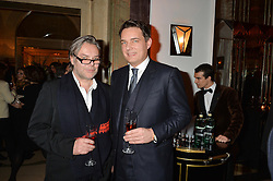 Left to right, DAVID DOWNTON and THOMAS KOCHS at a reception hosted by The Rake Magazine and Claridge's to celebrate London Collections 2015 held at Claridge's, Brook Street, London on 8th January 2015.
