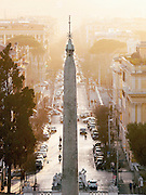Egyptian Obelisk of Ramesses II as seen from Villa Borghese, Rome, Italy