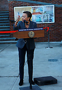 BROOKLYN, NEW YORK: NOVEMBER 6, 2020- U.S. Congress Nydia Velázquez,, along with New York City Mayor Bill De Blasio, New York City Council Member Robert Cornergy, U.S. Congress Nydia Velázquez, Tahirah Moore, Actor Tracey Morgan and others attend the official ribbon cutting ceremony opening the new New York City Housing Authority (NYCHA) Marcy Houses Community Center on November 6, 2020 in the Bedford Stuyvesant section of Brooklyn, New York City.   Photo by Terrence Jennings/terrencejennings.com