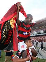 20091206: RIO DE JANEIRO, BRAZIL - Flamengo vs Gremio: Brazilian League 2009 - Flamengo won 2-1 and celebrated the 6th Brazilian Championship of its history. In picture: Leonardo Moura and Ze Roberto (Flamengo) celebrating victory. PHOTO: CITYFILES