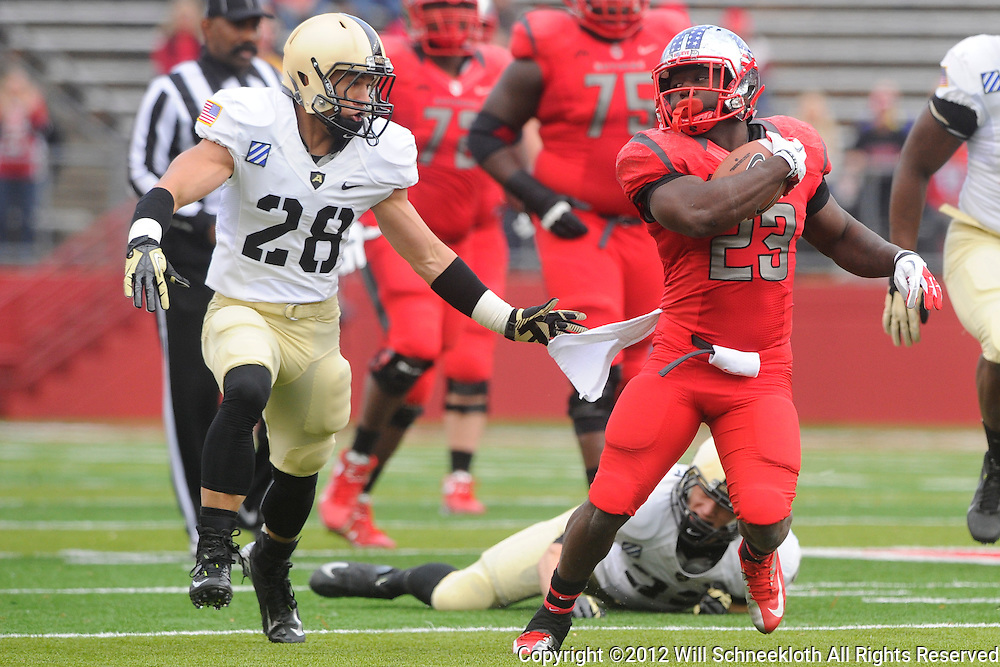 10 November 2012: Rutgers Scarlet Knights running back Jawan Jamison (23) rushes the ball during NCAA college football action between the Rutgers Scarlet Knights and Army Black Knights at High Point Solutions Stadium in Piscataway, N.J..