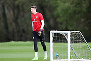 Wayne Hennessey, the Wales goalkeeper during the Wales football team training at the Vale Resort, Hensol , South Wales on Monday 2nd October 2017, the team are preparing for their FIFA World Cup qualifier away to Georgia this week. pic by Andrew Orchard, Andrew Orchard sports photography