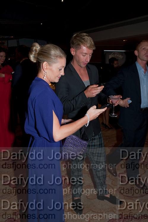 NICOLA STAPLETON; STEVE VYSE, London Lifestyle Awards. Riverbank Park Plaza. London.6 October 2011. <br /> <br />  , -DO NOT ARCHIVE-© Copyright Photograph by Dafydd Jones. 248 Clapham Rd. London SW9 0PZ. Tel 0207 820 0771. www.dafjones.com.