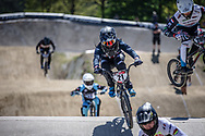 #21 (GAIAN Sean) USA and #289 (VAN HEUGTEN Ian) NED at Round 4 of the 2018 UCI BMX Superscross World Cup in Papendal, The Netherlands