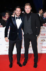 Jamie Redknapp (left) and Freddie Flintoff attending the National Television Awards 2019 held at the O2 Arena, London. Photo credit should read: Doug Peters/EMPICS